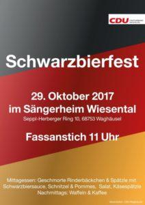 Waghäusel, Einladung zum SchwarzbierfestSonntag, 29. Oktober