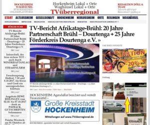 TV-Bericht Afrikatage-Brühl, 20 Jahre Partnerschaft Brühl – Dourtenga + 25 Jahre Förderkreis Dourtenga e.V., Oliver Döll TVüberregional