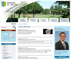 Gemeinde St. leon Bürgermeister Dr. Alexander Eger