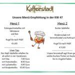 Mittagstisch im Kaffeestadl beim Freudensprung vom 21.11. bis 26.11.2017, Erlenbachhof 1, 69234 Dielheim