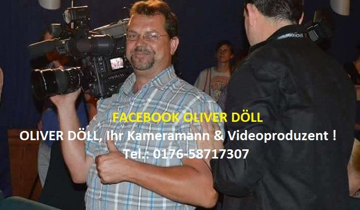 Oliver Döll mit Kamera Facebook Banner in TVüberregional mit Telefonnummer 0176 58717307