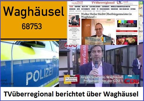 TVüberregional berichtet über Waghäusel, Waghäusel Lokal, Waghäusel TV, Oliver Döll
