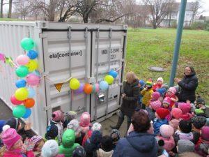 HOCKENHEIM: Neue Garage im Park-Kindergarten eingeweiht