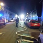 BRAND in ALTLUßHEIM, PKW brennt in GARAGE. Kamera: Andreas Wunderle für TVüberregional