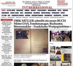 DIRK MÜLLER schreibt ein neues BUCH Mister DAX, Fondsmanager, Buchautor, Börsenmakler – Frankfurter Wertpapierbörse