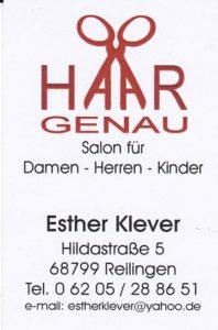 Friseur Reilingen Haargenau Esther Klever