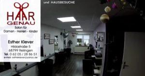 Friseur Reilingen, Haargenau Klever, Salon und Hausbesuche, TVüberregional Reilingen