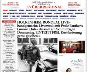 HOCKENHEIM: RONDEAU LIVE– handgemachte Livemusikmit Paule Panther's Groove Club - diesmal am Schmutzigen Donnerstag. EINTRITT FREI.Kostümierung gerne gesehen. TVüberregional Oliver Döll