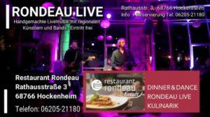 RONDEAU LIVE in HOCKENHEIM - REGELMÄßIGE LIVEMUSIK - EINTRITT FREI