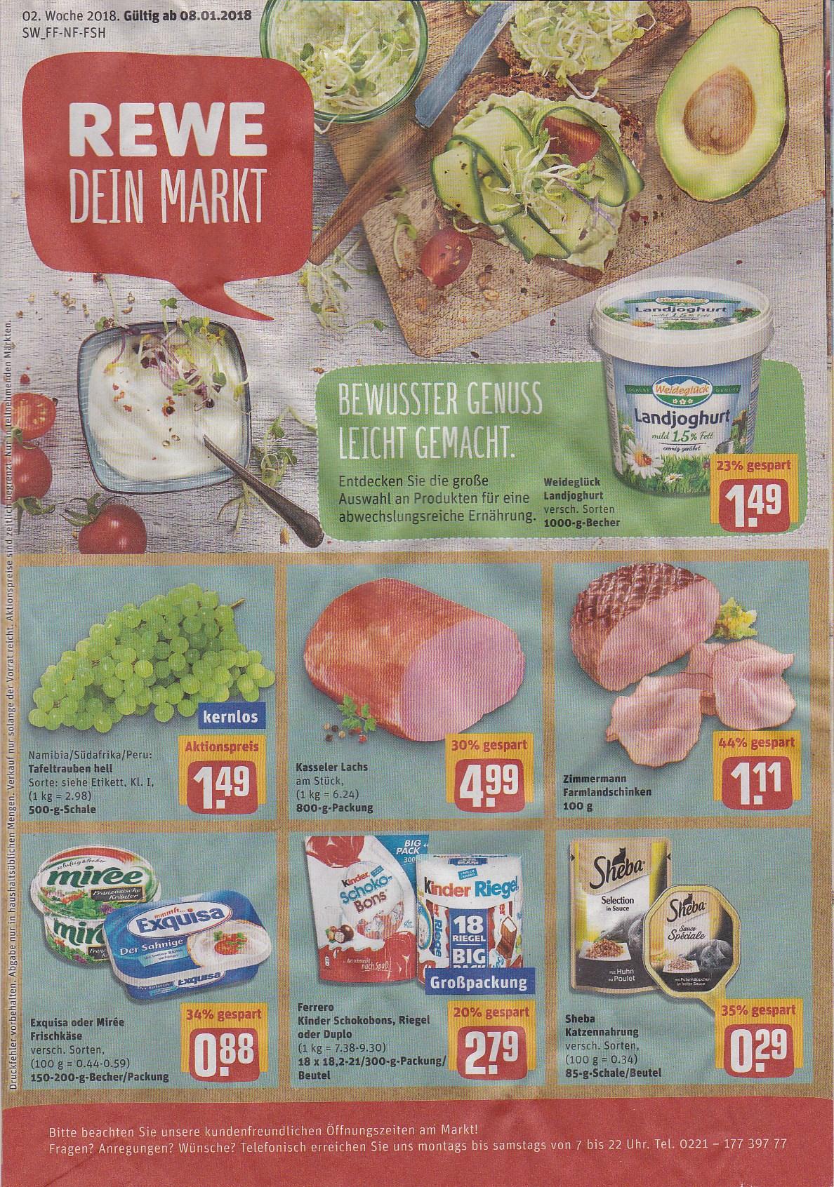 Angebote Rewe Reilingen Vom 080118 Bis 130118 Hauptstraße 103