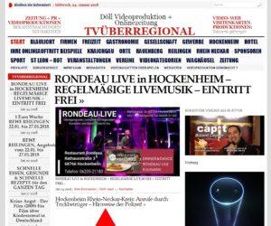 RONDEAU LIVE in HOCKENHEIM – REGELMÄßIGE LIVEMUSIK – EINTRITT FREI, onlinezeitung tvueberregional, hockenheim lokal
