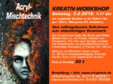 Arcyl-Mischtechnik KREATIV-WORKSHOP am 3.2.2018 in Heidelberg