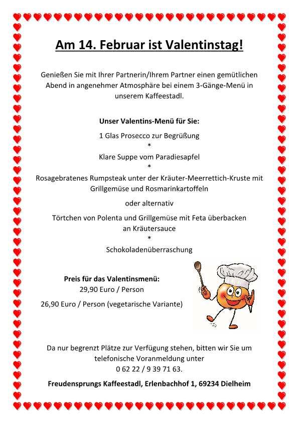Valentinstag 2018 Freudensprung Kafeestadl Dielheim TVüberregional, Kraichgau Lokal Regional