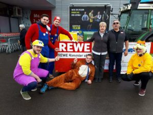 Faschingsfreunde Hoggene e.V. bedanken sich bei deren Hauptsponsor REWE REILINGEN