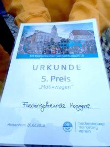 Faschingsfreunde Hoggene e.V. bedanken sich bei deren Hauptsponsor REWE REILINGEN 4