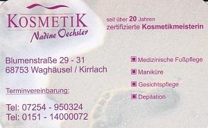 Kosmetik Salon Kirrlach Nadine Oechsler