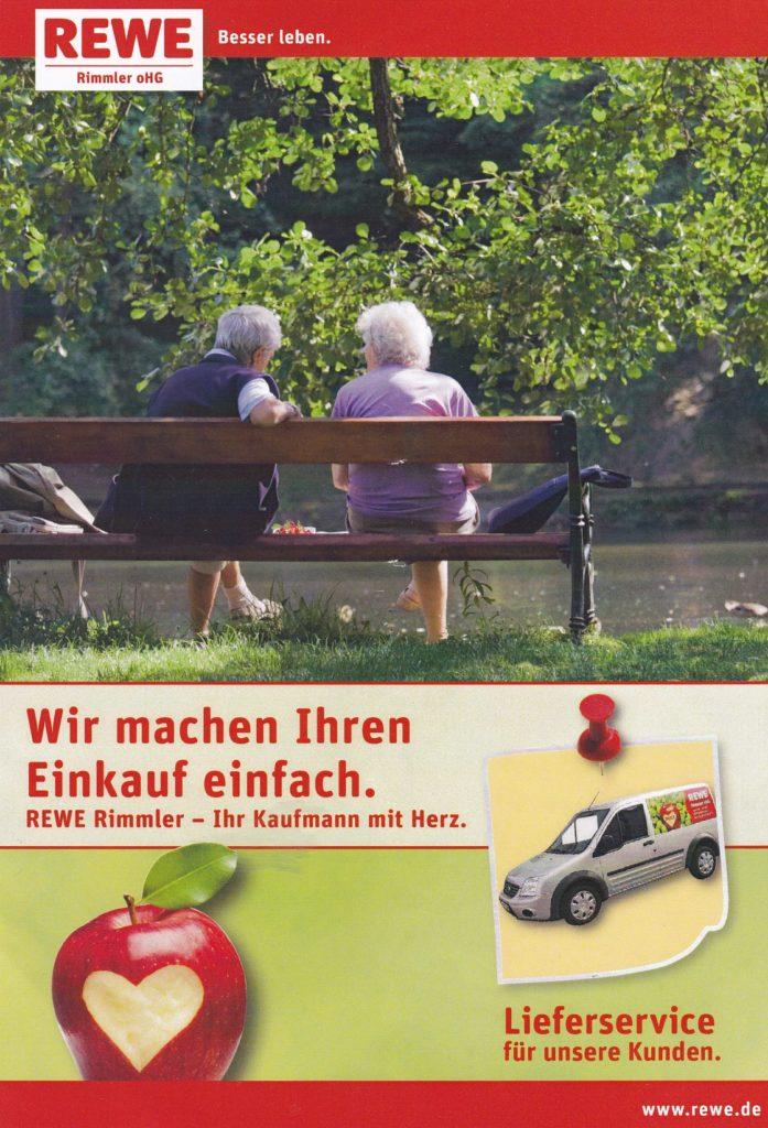 Lieferservice Rewe Rimmler Reilingen, Ihr Kaufmann mit Herz. Für Senioren ohne Auto, Menschen mit Behinderungen oder aus anderen gesundheitlichen Gründen (2)