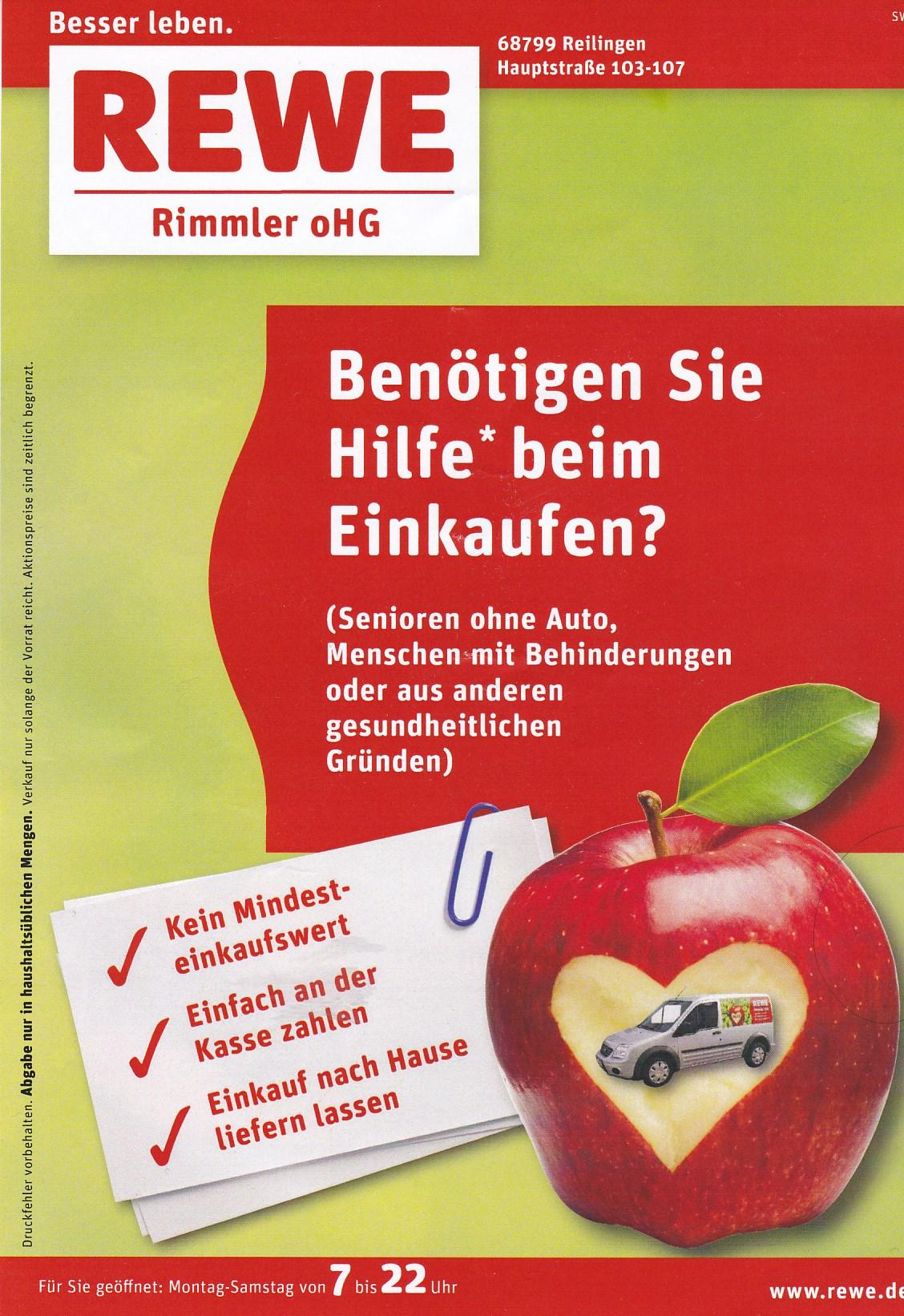 Rewe Reilingen, Angebote 06.-11.08.2018 | TVueberregional
