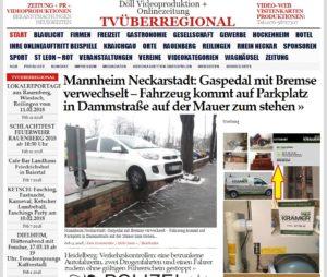 Mannheim Neckarstadt: Gaspedal mit Bremse verwechselt - Fahrzeug kommt auf Parkplatz in Dammstraße auf der Mauer zum stehen  https://tvueberregional.de/mannheim-neckarstadt-gaspedal-mit-bremse-verwechselt-fahrzeug-kommt-auf-parkplatz-in-dammstrasse-auf-der-mauer-zum-stehen/