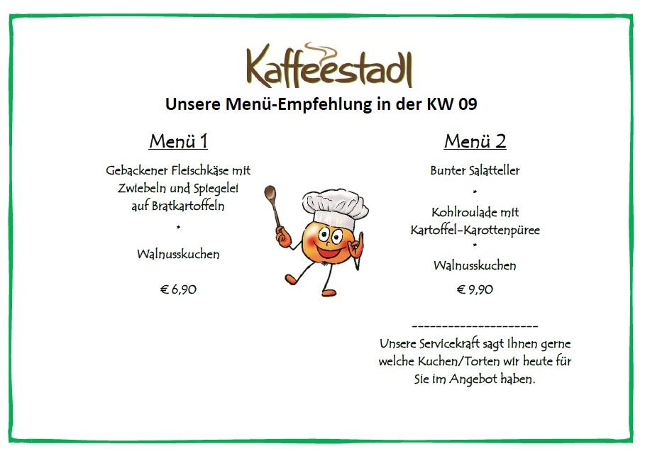 Menü Empfehlung vom 27.02. bis 04.03.18 Kaffeestadl, Freudensprung Dielheim