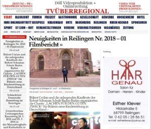 Neuigkeiten in Reilingen Nr. 2018 – 01 Filmbericht