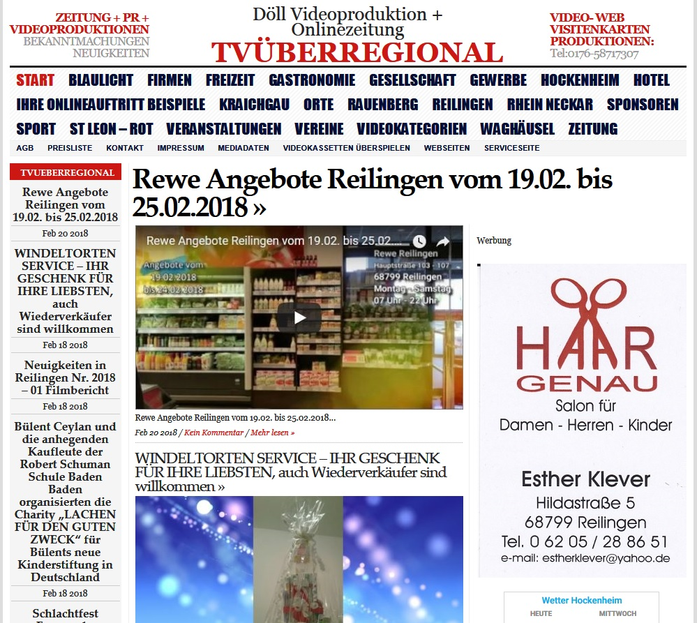 Rewe Angebote Reilingen vom 19.02. bis 25.02.2018, TVüberregional