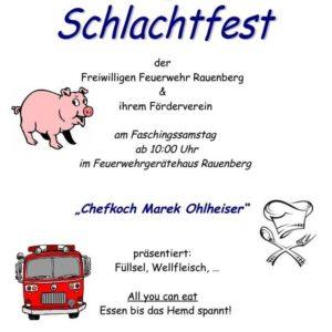 SCHLACHTFEST FEUERWEHR RAUENBERG 2018