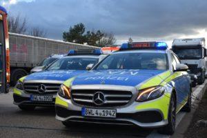 Polizei Autobahn Polizeiautos A6 A5 A61