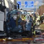 St. Leon-Rot: Schwerer Verkehrsunfall; A 5 zw. Ass Kronau und Autobahnkreuz Walldorf voll gesperrt.