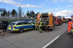 Autobahn Blaulicht Polizei Notarzt