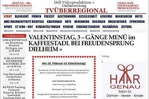Melden Sie sich mit Ihren Fragen bei unserem Team: Frau Döll,Email: tvueberregional@gmx.de www.videowebvisitenkarte.de