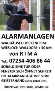 ALARMANLAGEN WAGHÄUSEL HOCKENHEIM WIESLOCH WALLDORF von RIMA 300 px