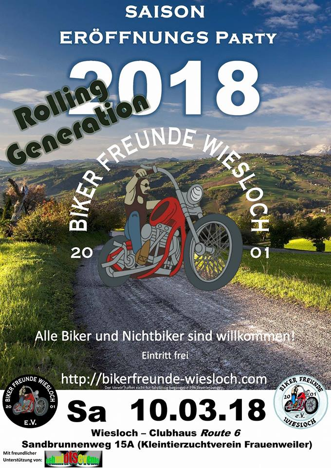 BIKER FREUNDE WIESLOCH, Veranstaltung 10.03.18, Saison Eröffnung