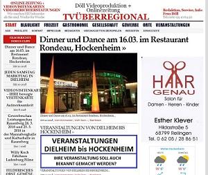 Dinner und Dance am 16.03. im Restaurant Rondeau, Hockenheim, TVüberregional, Hockenheim Lokal, 300 pixel