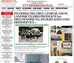 Freudensprung Hofkiste Heimservice Dielheim TVüberregional Lokalzeitung Videoproduktion