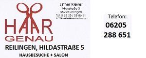 Friseur Reilingen Haargenau Esther Klever Frieseurdienst, Hausbesuche-Friseur,