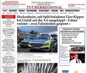 Hockenheim, mit Split beladener Lkw-Kipper bei Unfall auf der A 6 umgekippt – Fahrer verletzt – zwei Fahrstreifen gesperrt, TVüberregional, Blaulichtnews, Polizeieinsatz, Hockeheimtv, Oliver Doell,