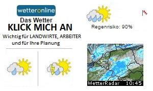 Wettervorhersage im Raum Hockenheim bis Eschelbach im Kraichgau, Hockenheim und 30 Kilometer Umkreis
