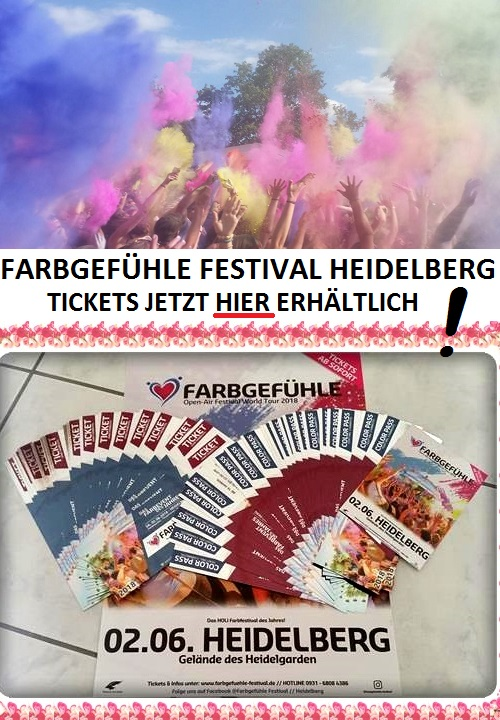 Farbgefühle Festival Heidelberg Promotion, Veranstaltung Heidelberg, Termin Farbgefühle Festival, Videoproduktion Heidelberg, Döll Heidelberg, TVüberregional Heidelberg