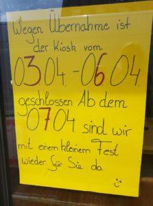 NEUERÖFFNUNG 7.4.18 Kiosk Am Eck in Reilingen, Hauptstraße 02, 68799 Reilingen