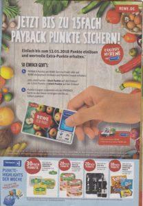 Geld sparen mit Payback Punkte, Rewe Reilingen