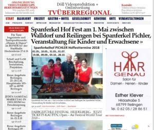 Spanferkel Hof Fest am 1. Mai zwischen Walldorf und Reilingen bei Spanferkel Pichler, Veranstaltung für Kinder und Erwachsene