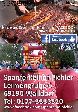 Spanferkel Pichler, Spanferkel Lieferservice, Spanferkel Hof, Walldorf, Onlinewerbung bei TVüberregional 02