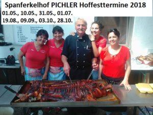 Spanferkelhof Pichler Hoffesttermine 2018, zwischen Walldorf und Reilingen