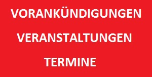 Vorankündigungen, Veranstaltungen, Termine, Was wann wo, TVüberregional, Hockenheim, Walldorf, Wiesloch, Dielheim, Rauenberg, Reilingen, Waghäusel, Kraichgau, Ladenburg, 300 x 152 pixel