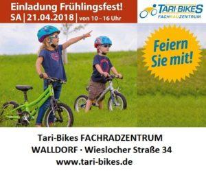 WALLDORF, Tari-Bikes Frühlingsfest am Samstag21.4.2018,Wieslocherstraße 34