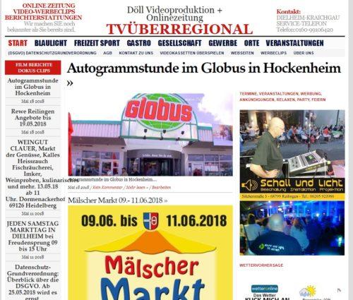 Autogrammstunde im Globus in Hockenheim TVüberregional