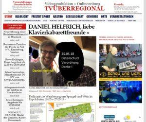 DANIEL HELFRICH, liebe Klavierkabarettfreunde, TVüberregional, Musiker, Veranstaltungen Rhein-Neckar, was wann wo rhein-neckar, klavierabend rhein-neckar, Beschallung, Schall und Licht, Tontechnik, Licht,