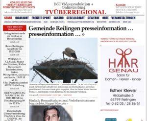 Gemeinde Reilingen presseinformation … presseinformation, Reilingen Lokal, TVüberregional, Döll Oliver