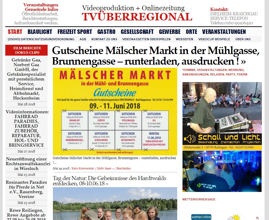 Gutscheine Mälscher Markt in der Mühlgasse, Brunnengasse – runterladen, ausdrucken, Kraichgau Regional, TVüberregional, Veranstaltungen Kraichgau, Veranstaltungen Rhein Neckar, Malsch Veranstaltung,
